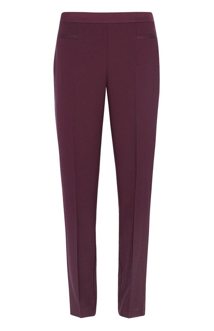 Burgundy Satin Trousers