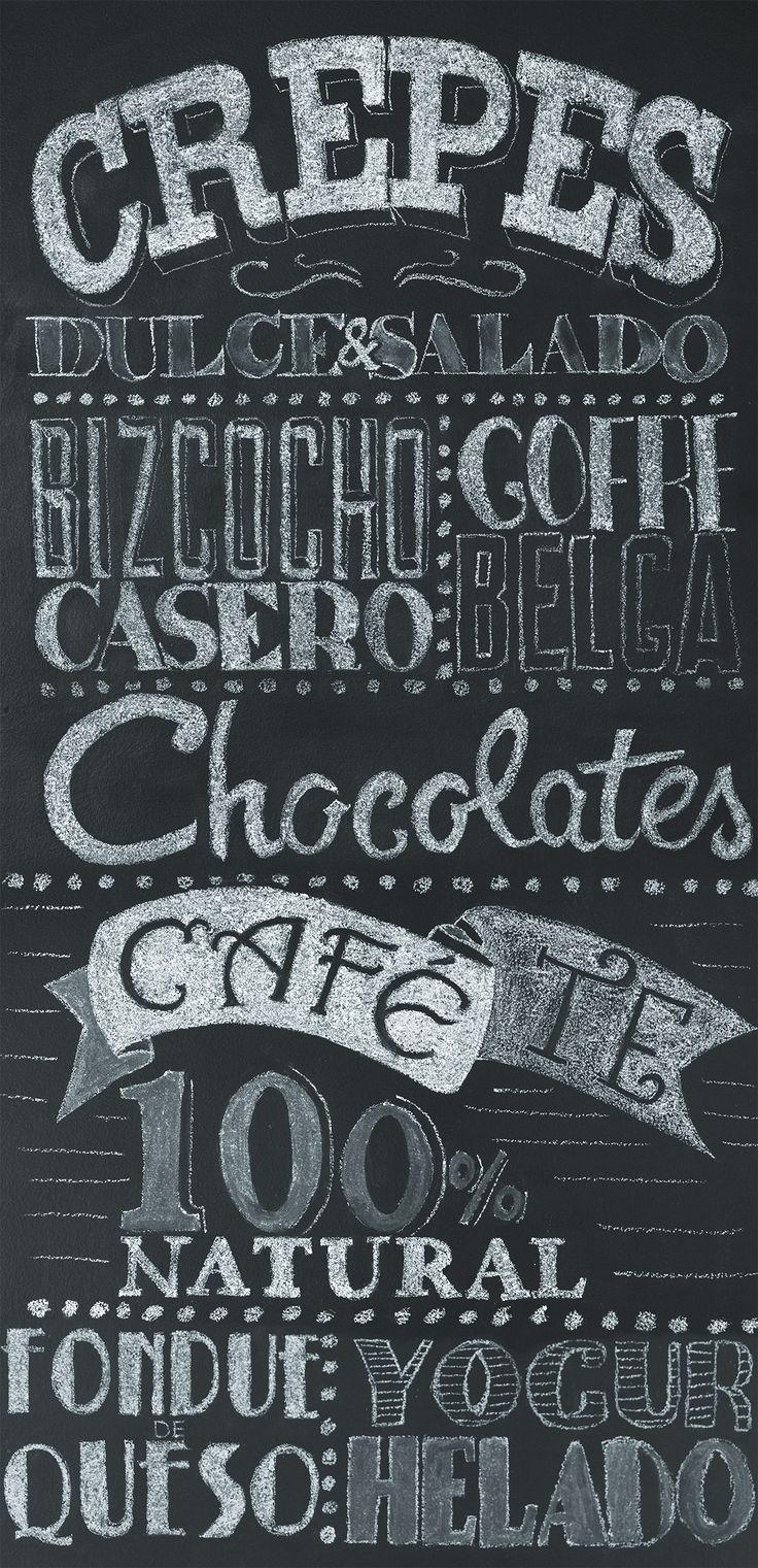 lettering para restaurante.