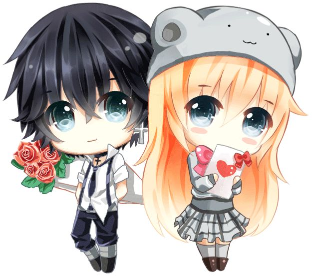Happy valentine cute couple by pinlin on deviantart - Anime girl picture download ...