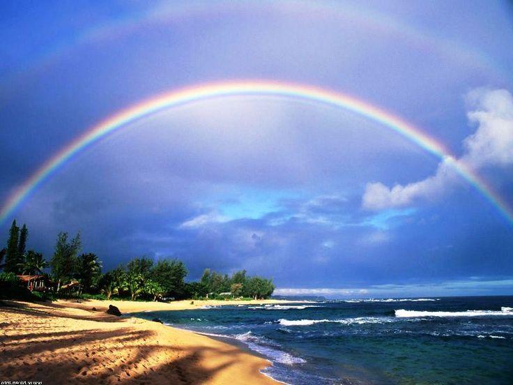 Gambar Pelangi Di Pantai