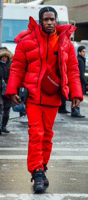 Asap Rocky, NYFW, Balenciaga, Street Style, New York ...