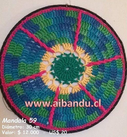 Mandala 59 .... tejido a crochet ... diametro 30 cm