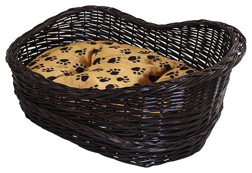 $219.95-$219.95 Small dogs and cats will rest comfortably on the plush, paw-printed interior of this lounge style pet bed. The rim of this finely crafted pet bed dips slightly on one corner so your pet can easily climb in and out without tipping. The soft removable inner cushion is made of polyester.