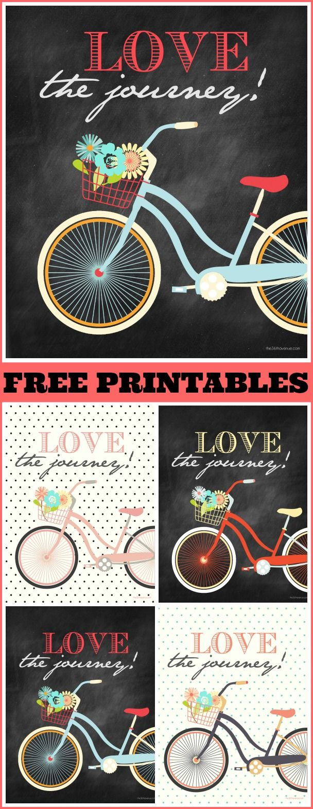 Free Printables at the36thavenue.com Four colors to choose from... Super cute!