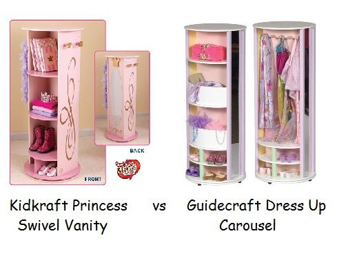 Amazing Kidkraft Swivel Vanity Vs Guidecraft Dress Up Carousel   Which One Is The  Better Option For