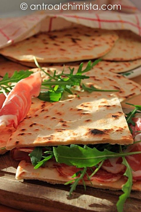 Piadina Romagnola - Piadina (typical bread of Romagna, Italy)