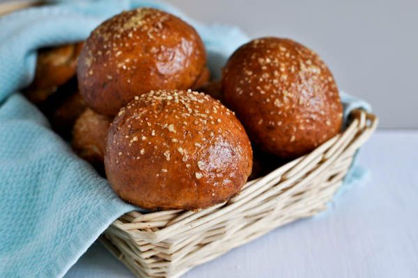 Pretzel rolls-- i wanna learn how to make these, and then never eat a sandwich on anything else.