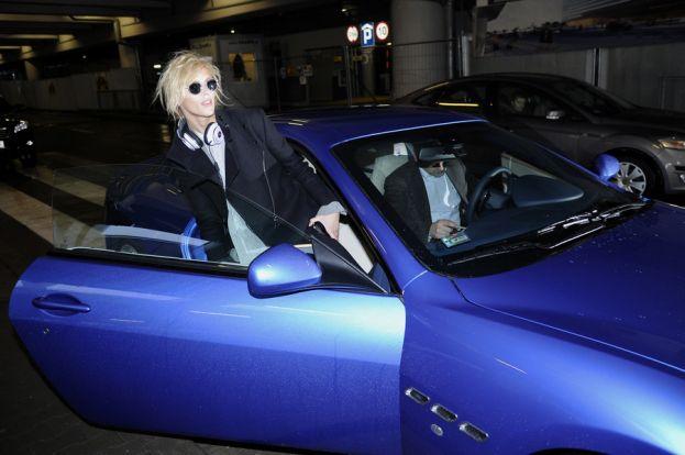 Ania Rubik w Maserati podczas pobytu w Warszawie