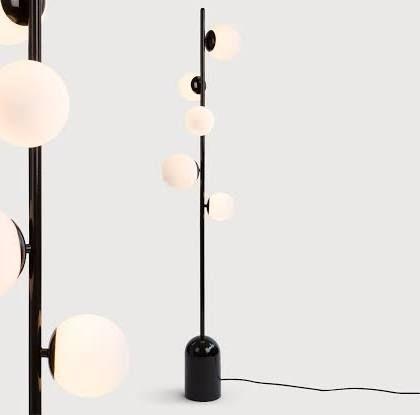 zwart wit lamp