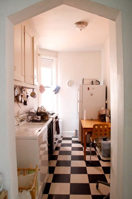 The small kitchen