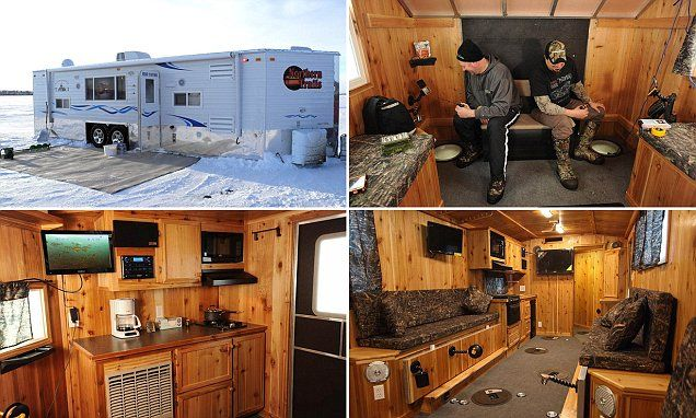 Inside the decked out shanties of the midwest 39 s ice for Lybacks ice fishing