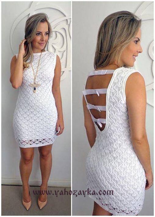Маленькое белое платье спицами. Шикарное летнее платье спицами | Я Хозяйка