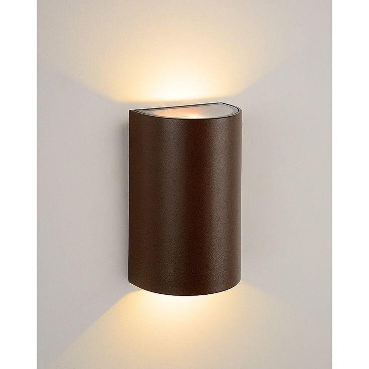 Hira I - moderne wandlamp voor buiten - roestige kleur