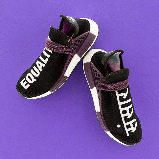 1c45c6e45a39 Pharrell Williams promotes positivity with this adidas NMD Hu with