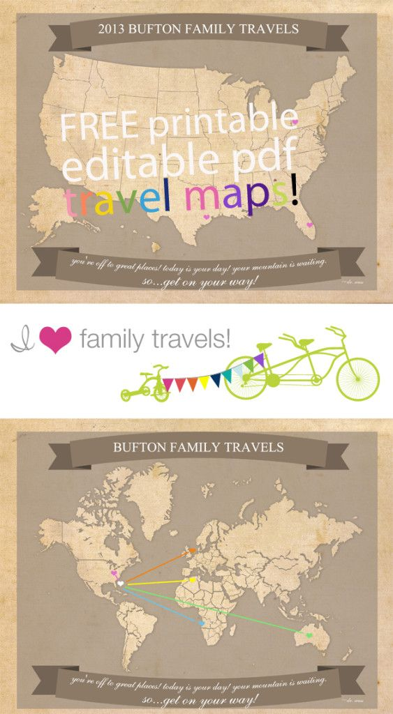 personalized map : Free Pretty Printables