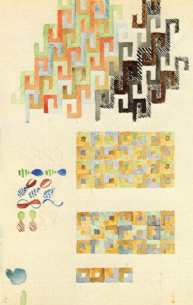 Sheet with various patterns 33x21 cm  Bauhaus-Archiv, Berlin