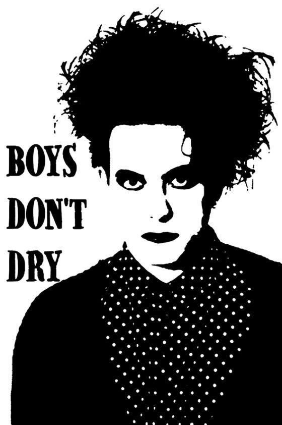 Robert Smith Tea Towel Boys Dont Dry The Cure - Real Groovy