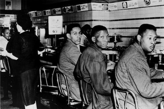 On February 1, four African American college students sat down at a segregated Woolworth's lunch counter in Greensboro, North Carolina. They were not served but were allowed to sit; in the days that followed, more and more students came to Woolworth's, culminating in a 300-person peaceful protest on February 5th. The protest ended on February 6th due to a bomb scare, but the event had a lasting impact on the American civil rights movement.
