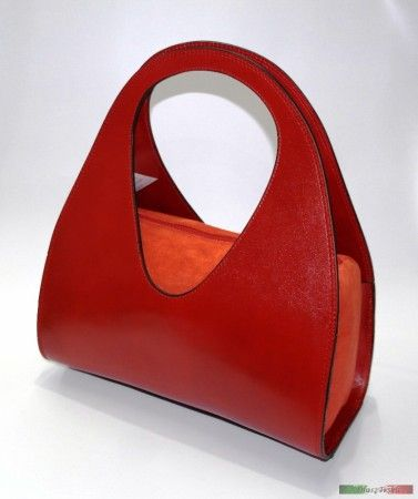Piros designer bőrtáska