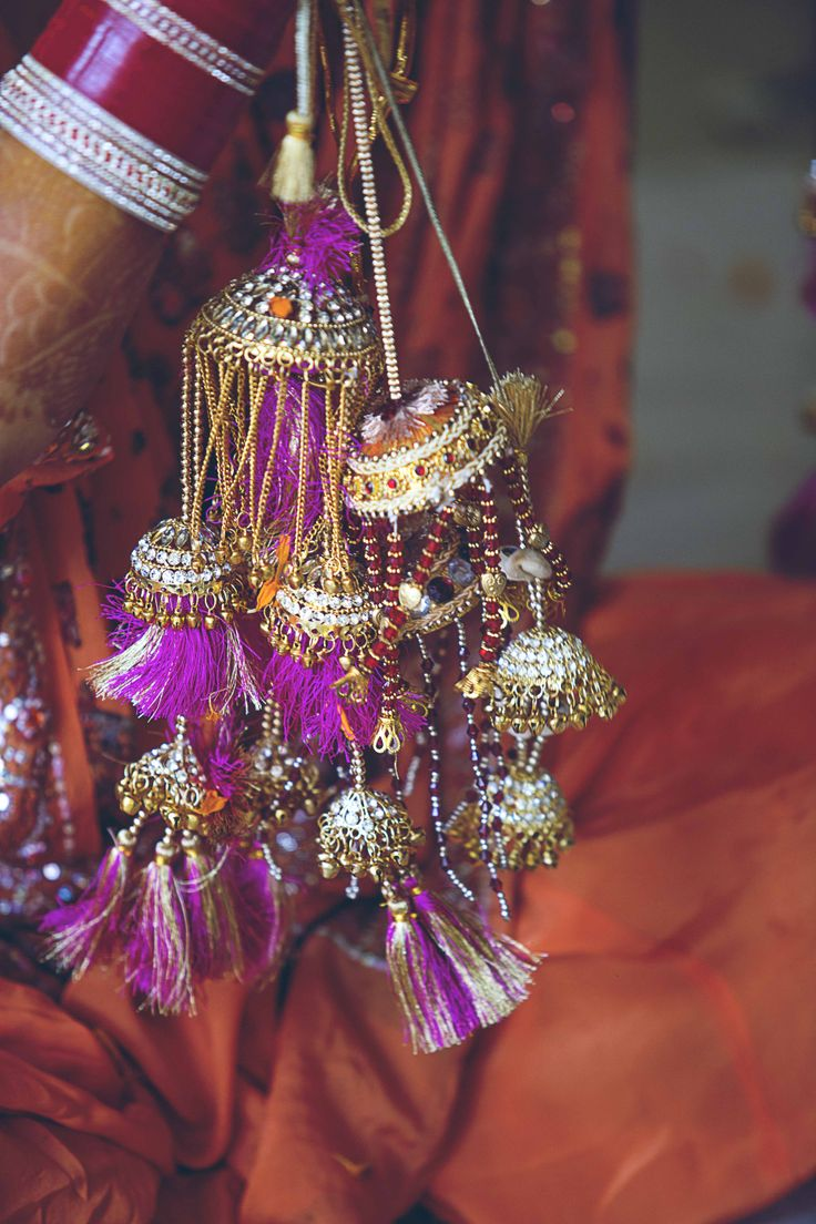 Part of the Bride's Trousseau. A bridal accessory for the Indian bride.