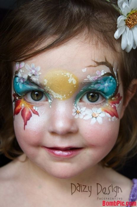 Fall inspired Face Painting by Daizy Design