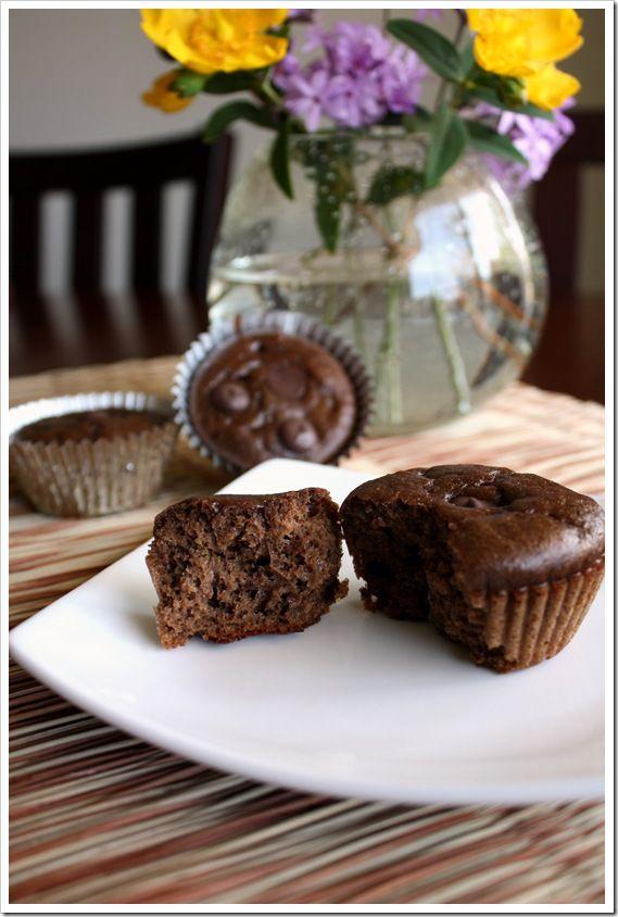 Grain-free Chocolate Chocolate-Chunk Muffins