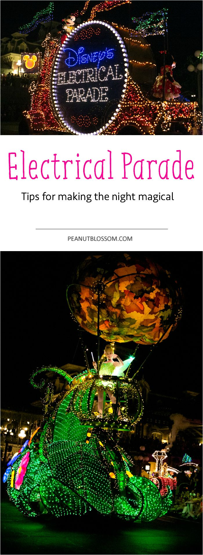 Is Disney's Electrical Parade on your to do list for your next vacation? Check out these great tips for the best place to sit and how to make the evening extra magical. So fun!