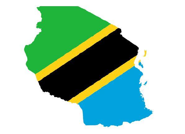 Tanzania-Flag-Map