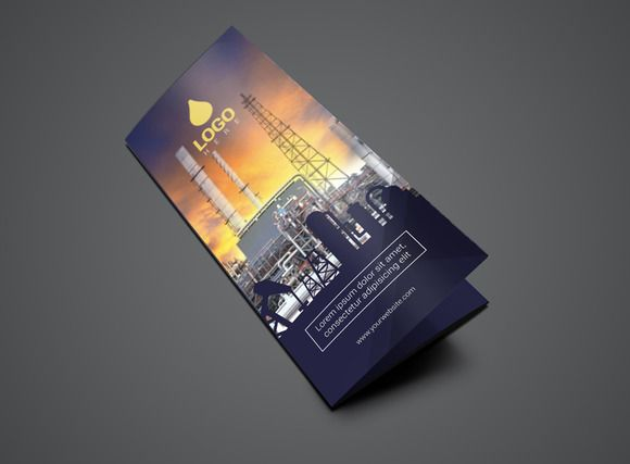 Template Trifold Oil and Gas Flyer by Vecto Designs on @creativemarket