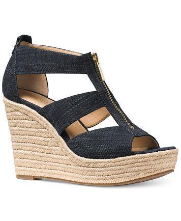92b203ff7 Image 1 of MICHAEL Michael Kors Damita Platform Wedge Sandals ...