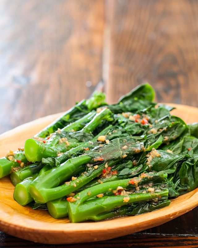 Chinese Broccoli with Garlicy Ginger Miso from @Jaden Hair