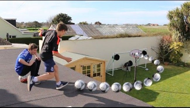 Roof Top Football Challenges  http://www.shareabuzz.com/video/roof-top-football-challenges