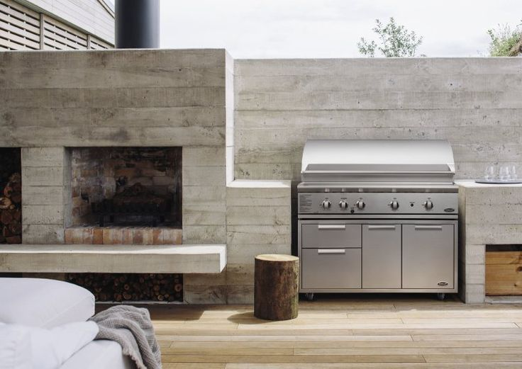Outdoor Kitchen With Fireplace Pictures
