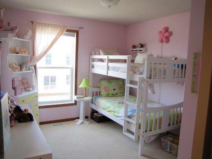 Girls Bedroom Ideas Pink Bunk Bed Novocom Top