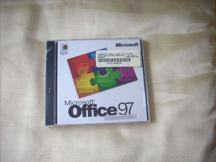 Microsoft Office 97 Professional Edition STILL SEALED CD ROM ONLY #Microsoft