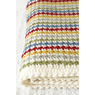 Crochet your own Winifred Baby Blanket!Lovely, soft and textured, this blanket is perfect to keep any baby or child cosy and warm. Easy to read instructions with step by step photos (in both UK and US terms), this blanket is a great project to make for that new little arrival or as a special handmade gift.You'll need approximately 500g of DK yarn, although you can use whatever thickness of yarn you like (please make sure if you are using different coloured yarn, that they are all the same…