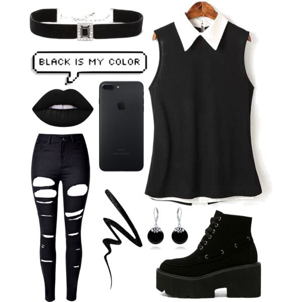 Untitled #12 by pastellilapsi on Polyvore featuring WithChic, Kenneth Jay Lane, Bling Jewelry, Lime Crime and Eyeko