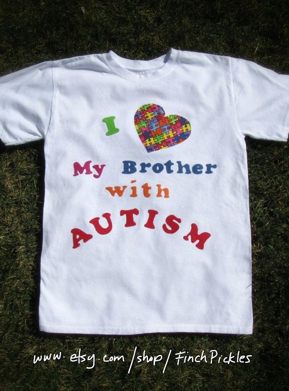 Cool  I love my brother with Autism TShirt by FinchPickles on Etsy, $23.00