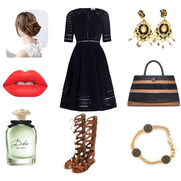 Sicily with love! by orafinrete on Polyvore featuring moda, Zimmermann, Topshop, Tory Burch, Lime Crime, Dolce&Gabbana, gold, glam and goldjewelry