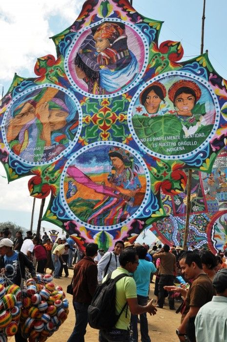 """5 unforgettable experiences on Day of the Dead: """"Giant Day of the Dead kites of #Sumpango""""  #Guatemala #food"""