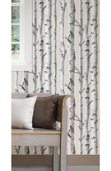 Best 20 vinyl wallpaper ideas on pinterest classic for Birch tree wallpaper mural
