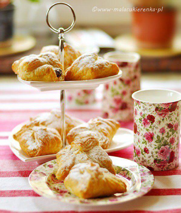 Ciastka francuskie z powidłami i orzechami