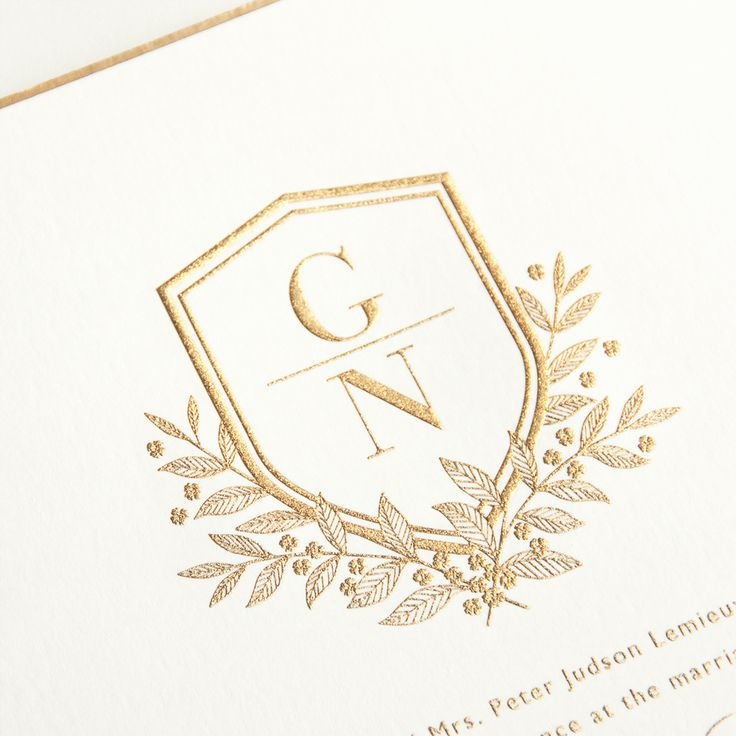 Wedding Monogram Crest