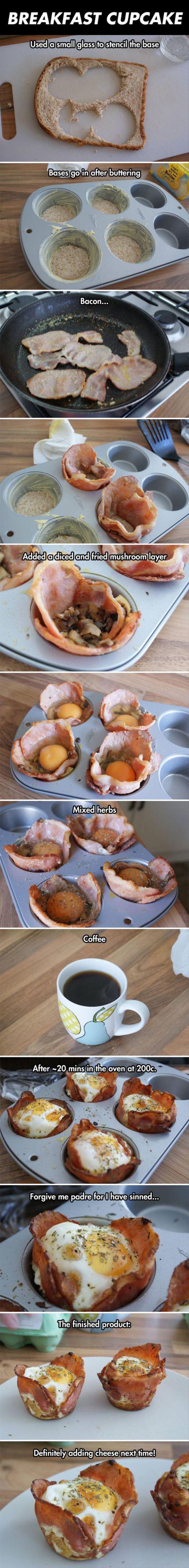 Zelfgemaakte hartige muffins van brood etc.
