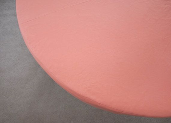"Coral Round Crib Fitted Sheet for 42"" Round Mattress"