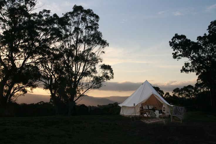 Sunset in  the Blue Mountains at Megalong Valley..