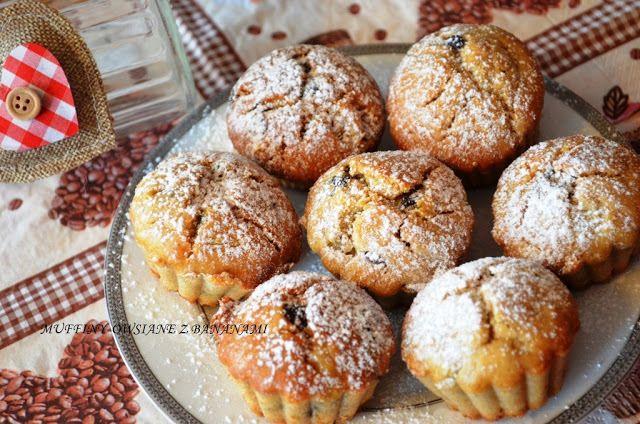 Muffiny owsiane z bananami