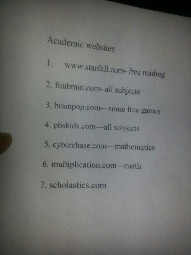 Academic Websites