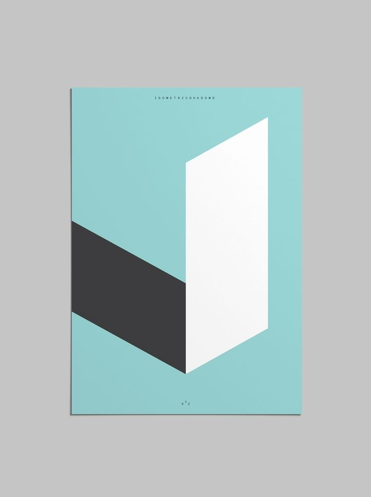 Isometric Shadows Poster  #poster #graphicdesign #design #isometric #grid…