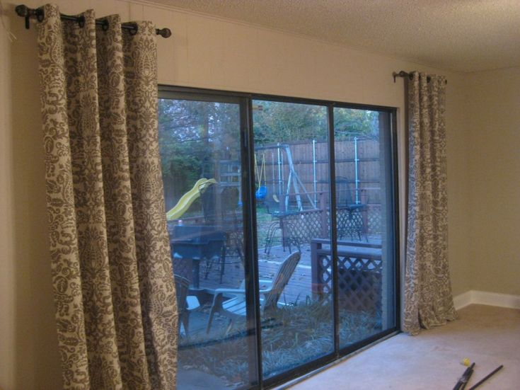 1000 ideas about short curtain rods on pinterest cheap for Small sliding glass patio doors